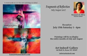 Art Indeed! presents: Fragments of Reflection, Kumari de Silva @ Art Indeed! | Reno | Nevada | United States