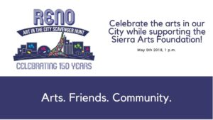Sierra Arts Foundation presents: Art In The City Scavenger Hunt @ The Eddy | Reno | Nevada | United States