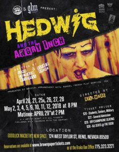 Bruka & GLM present: Hedwig and the Angry Inch @ Good Luck Macbeth | Reno | Nevada | United States