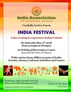 India Festival @ Neil Road Recreation Center | Reno | Nevada | United States