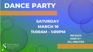 Note-Able Music Therapy Services presents: Dance Party @ Note-Able Music Therapy Services