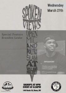 SVC Presents: Open Mic & Poetry Slam w/ Poet Brandon Leake @ Holland Project